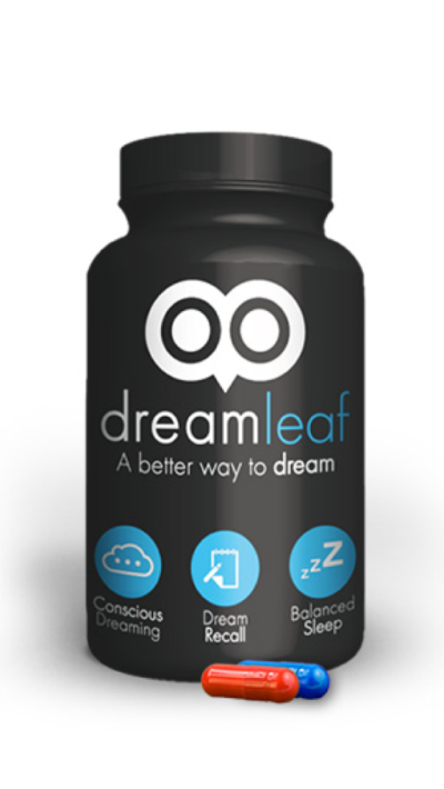 Dream Leaf Bottle Design with Both Pills