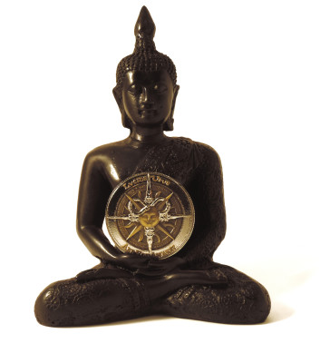 Lucid Coin White BG Front with Buddha
